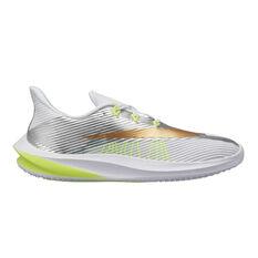 Nike Future Speed Kids Running Shoes White / Gold US 1, White / Gold, rebel_hi-res