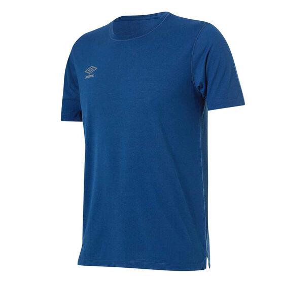 Umbro Mens Staple Training Tee, Blue, rebel_hi-res