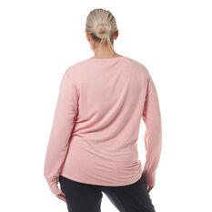 Ell & Voo Womens Amanda Pullover Sweatshirt Pink XXS, Pink, rebel_hi-res