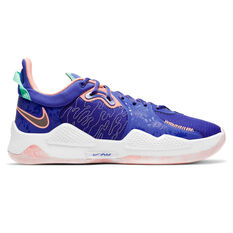 Nike PG 5 Mens Basketball Shoes Blue US 5.5, Blue, rebel_hi-res