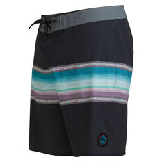 Quiksilver Boys Surfsilk Sun Faded 17 inch Board Shorts, Black, rebel_hi-res