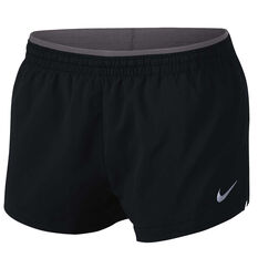 Nike Womens Flex Elevate 3in Running Shorts Black / Grey XS Adult, Black / Grey, rebel_hi-res