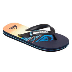 Quiksilver Molokai Slab Kids Thongs Blue US 2, , rebel_hi-res