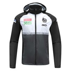 Collingwood Magpies 2020 Mens Wet Weather Jacket Black / White S, Black / White, rebel_hi-res
