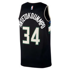 Jordan Milwaukee Bucks Giannis Antetokounmpo 2020/21 Mens Statement Edition Swingman Jersey Black S, Black, rebel_hi-res