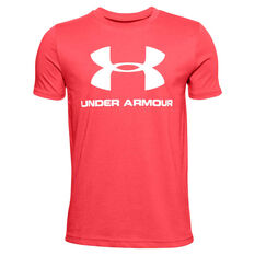 Under Armour Boys Sportstyle Tee Red M, Red, rebel_hi-res