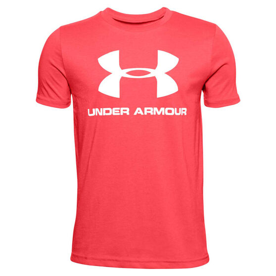 Under Armour Boys Sportstyle Tee, Red, rebel_hi-res
