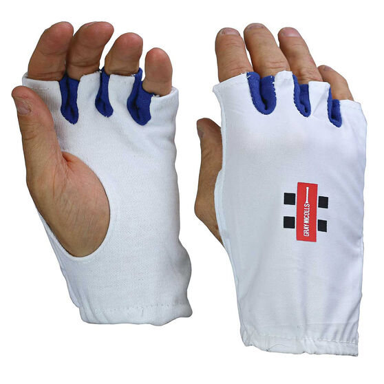 Gray Nicolls Fingerless Cricket Batting Glove Inners, White, rebel_hi-res
