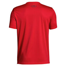 Under Armour Boys Tech Big Logo Solid Tee Red / Grey XS, Red / Grey, rebel_hi-res