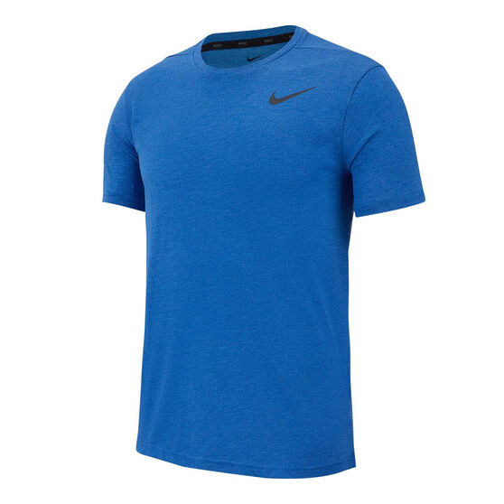 Nike Mens Breathe Hyper Dry Training Tee, Blue, rebel_hi-res