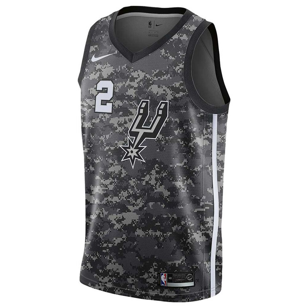 bb057aaa6ef8 Nike San Antonio Spurs Kawhi Leonard City 2018 Mens Swingman Jersey Black  S