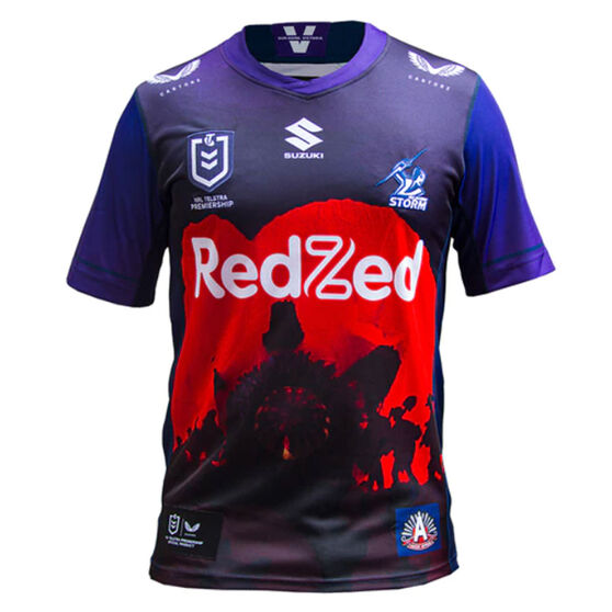 Melbourne Storm 2021 Kids ANZAC Jersey, Purple, rebel_hi-res