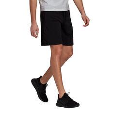 adidas Mens Sportswear Lightweight Shorts Black S, Black, rebel_hi-res