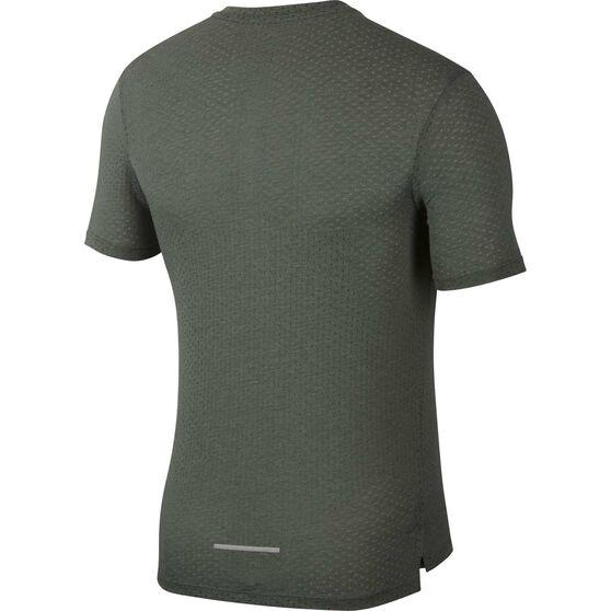 Nike Rise 365 Mens Short-Sleeve Running Top, Green, rebel_hi-res