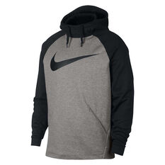 Nike Mens Dri-FIT Therma Training Hoodie Grey XS, Grey, rebel_hi-res