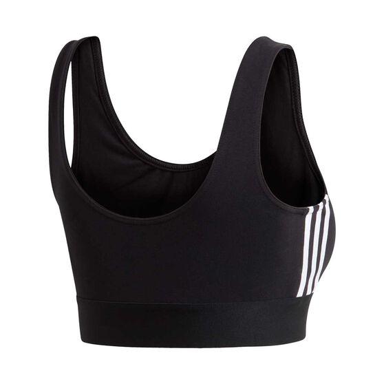 adidas Womens Must Haves 3 Stripes Sports Bra, Black, rebel_hi-res