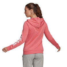 adidas Womens Essentials Logo Full Zip Hoodie Orange XS, Orange, rebel_hi-res