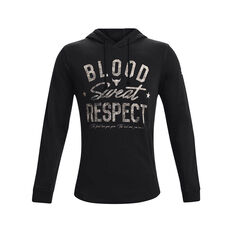 Under Armour Mens Project Rock Blood Sweat Respect Hoodie Black M, Black, rebel_hi-res
