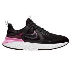 Nike Legend React 2 Womens Running Shoes Black / Grey US 6.5, Black / Grey, rebel_hi-res