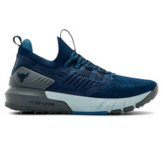 Under Armour Project Rock 3 Mens Training Shoes Navy/Grey US 7, Navy/Grey, rebel_hi-res
