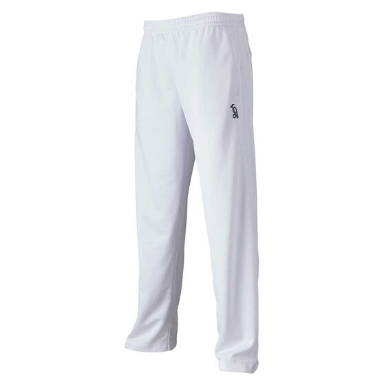 Kookaburra Mens Pro Active Cricket Pants, White, rebel_hi-res