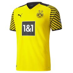 Borussia Dortmund 2021/22 Mens Home Jersey Yellow S, Yellow, rebel_hi-res