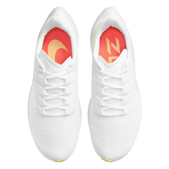 Nike Air Zoom Pegasus 37 Womens Running Shoes, White/Yellow, rebel_hi-res