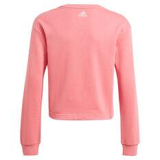 adidas Girls VF Essential Logo Sweatshirt, Pink, rebel_hi-res