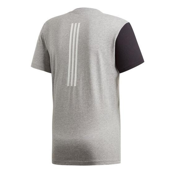 adidas Mens Sports ID Branded Tee, Grey, rebel_hi-res
