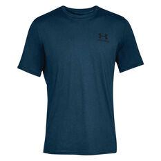 Under Armour Mens Sportstyle Tee Navy / Black XS, Navy / Black, rebel_hi-res