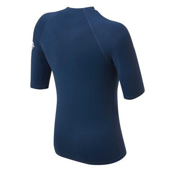 Quiksilver Mens All Time Short Sleeve Rash Vest, Navy, rebel_hi-res
