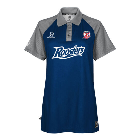 Sydney Roosters 2021 Womens Polo, Blue, rebel_hi-res