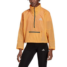 adidas Womens Adapt Jacket Orange XS, Orange, rebel_hi-res