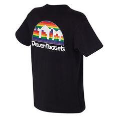 Denver Nuggets Mens Retro Repeat Tee Black S, Black, rebel_hi-res