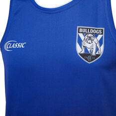 Canterbury-Bankstown Bulldogs 2020 Mens Training Singlet Blue S, Blue, rebel_hi-res
