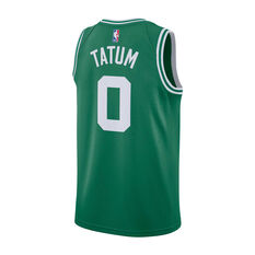 Nike Boston Celtics Jayson Tatum 2019/20 Mens Icon Edition Swingman Jersey Green S, Green, rebel_hi-res