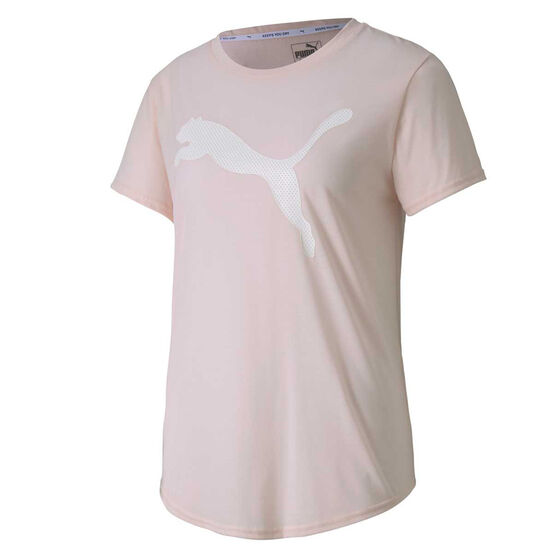Puma Womens Evostripe Tee Pink XS, Pink, rebel_hi-res