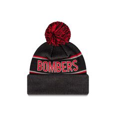 Essendon Bombers New Era Supporter Beanie Black/Red OSFA, , rebel_hi-res