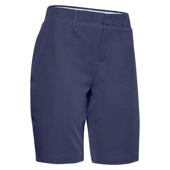 Under Armour Womens Links Golf Shorts, Blue, rebel_hi-res