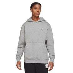 Jordan Essentials Mens Fleece Pullover Hoodie Grey S, Grey, rebel_hi-res