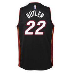 Nike Miami Heat Jimmy Butler 2020/21 Kids Icon Swingman Jersey Black S, Black, rebel_hi-res