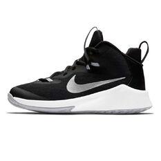Nike Future Court Kids Basketball Shoes Black / White US 1, Black / White, rebel_hi-res