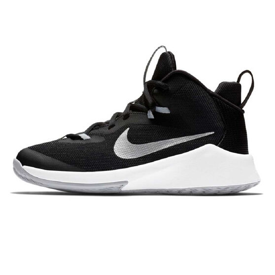 Nike Future Court Kids Basketball Shoes, Black / White, rebel_hi-res