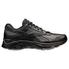 Reebok Walk Ultra DMX Max IV Womens Walking Shoes Black / Black US 6, Black / Black, rebel_hi-res