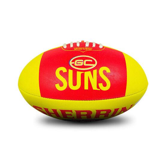 Sherrin AFL Gold Coast Suns Synthetic Ball, , rebel_hi-res
