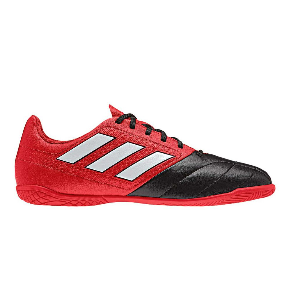 844928845 adidas ACE 17.4 Junior Indoor Soccer Shoes Red / Black US 5, Red / Black