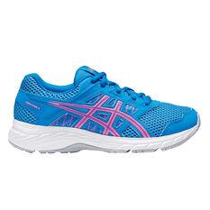 Asics Gel Contend 5 Kids Running Shoes Blue US 4, Blue, rebel_hi-res