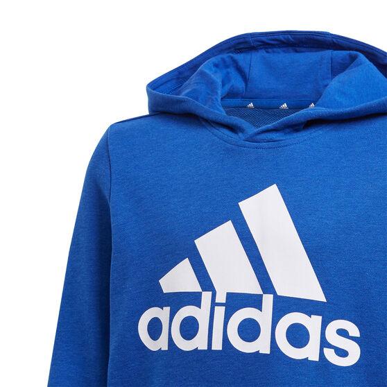 adidas Boys VF Essential Big Logo Hoodie, Blue, rebel_hi-res