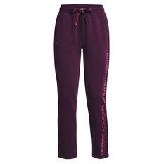 Under Armour Womens Rival Fleece Gradient Pants Purple XS, Purple, rebel_hi-res