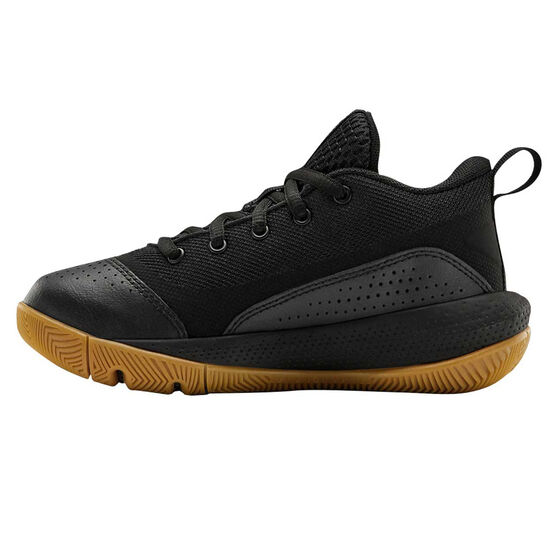 Under Armour SC 3ZERO IV Kids Basketball Shoes, Black/Gum, rebel_hi-res